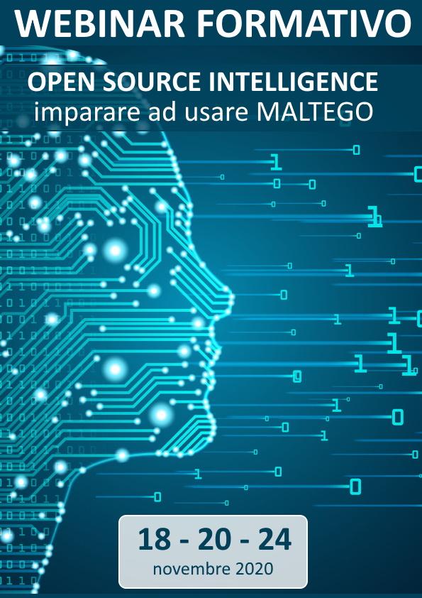 Webinar formativo: OPEN SOURCE INTELLIGENCE - imparare ad usare MALTEGO