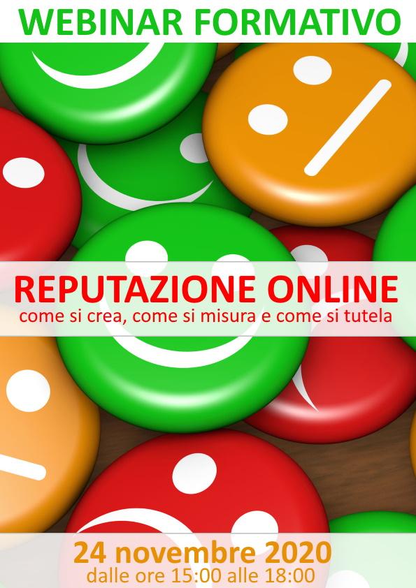 Webinar formativo -  Reputazione online: come si crea, come si misura e come si tutela