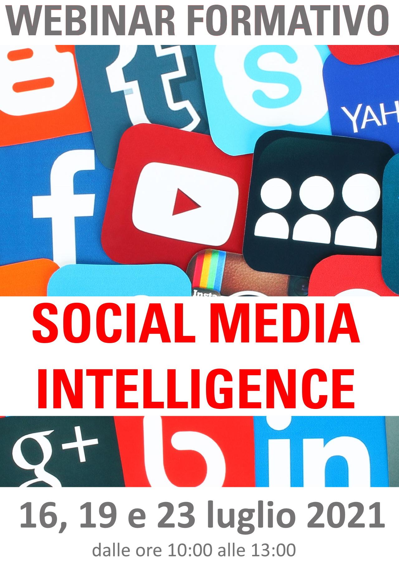 Webinar formativo SOCIAL MEDIA INTELLIGENCE
